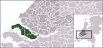 Carte de localisation de Goeree-Overflakkee
