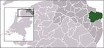 Carte de localisation d'Oldambt