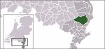 Carte de localisation de Peel en Maas