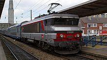 La BB 15026 en gare d'Amiens