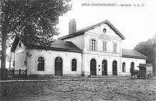 Carte postale représentant la gare dans les années 1900