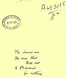 Texte écrit sur une feuille
