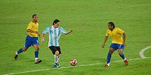 Messi contre le Brésil aux J.O de Pékin 2008