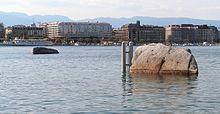 Les pierres du Niton à Genève