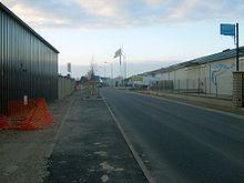 Photo prise en février 2008 représentant la rénovation de la zone de Tubœuf