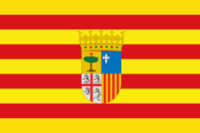 Drapeau de l'Aragon officiel selon les statuts d'autonomie