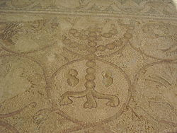 Original mosaic of ancient Maon Synagogue