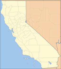Ortens läge i Kalifornien
