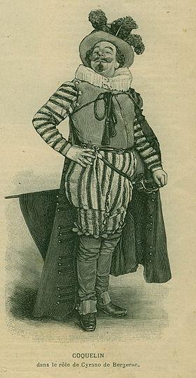 Coquelin aîné lors de la première de Cyrano, publié par L'Illustration le 8 janvier 1898.