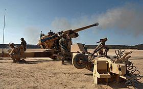 Canon TRF1 de 155 déployé par le 5e RIAOM a Djibouti.