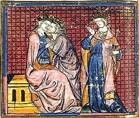 Hommage à Arthur, enluminure du XIVesiècle.
