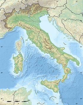 Voir la carte topographique d'Italie