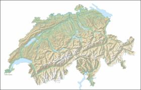 carte: Géographie de la Suisse