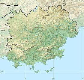 Voir sur la carte topographique duVar