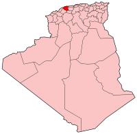 Carte d'Algérie (Wilaya d'Chlef)